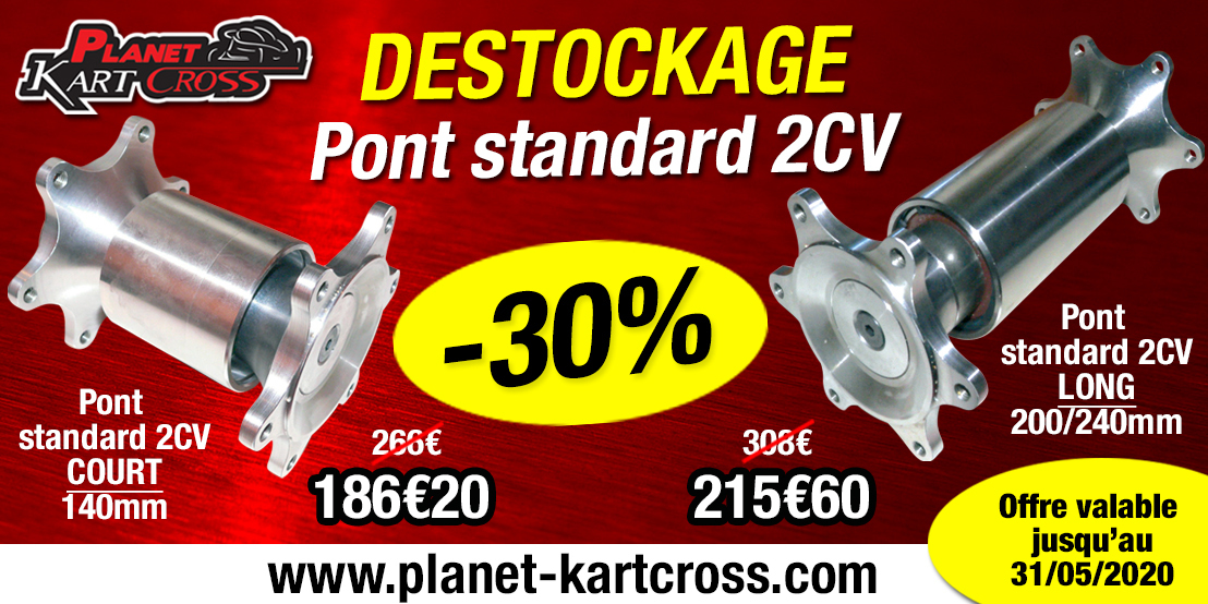 Destockage pont standard 2CV court ou long