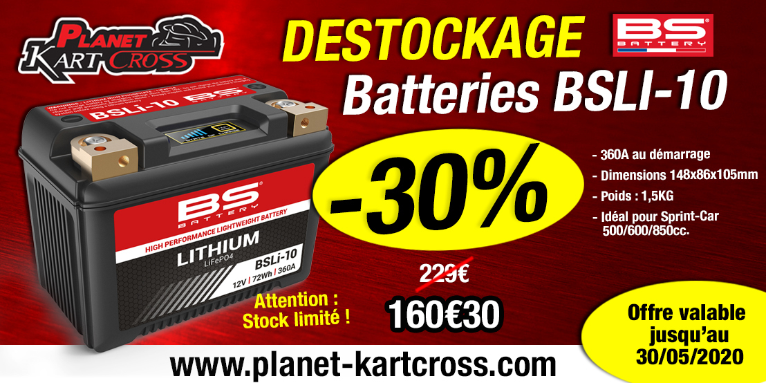 Destockage batterie BSLI-10